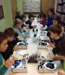 kids with stereoscopes