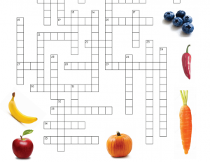 Nutrition Review Crossword Puzzle