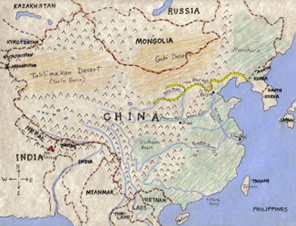 China Geography Map China Map Project China Geography Map